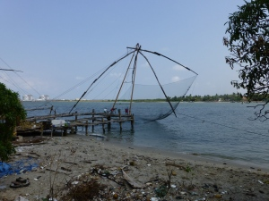 Large net with foreground detritus